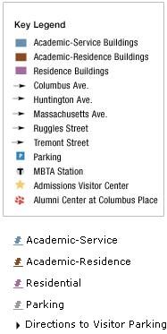 Northeastern University Campus Map