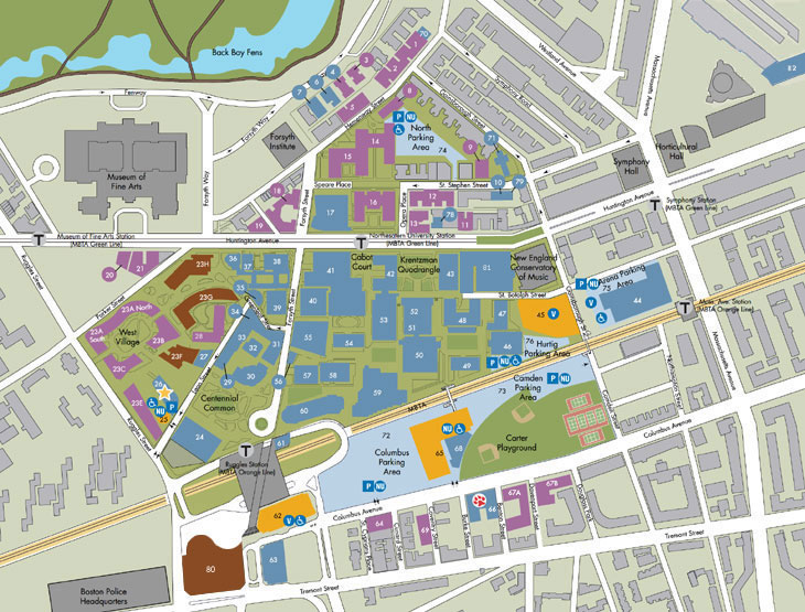 Northeastern University Campus Map